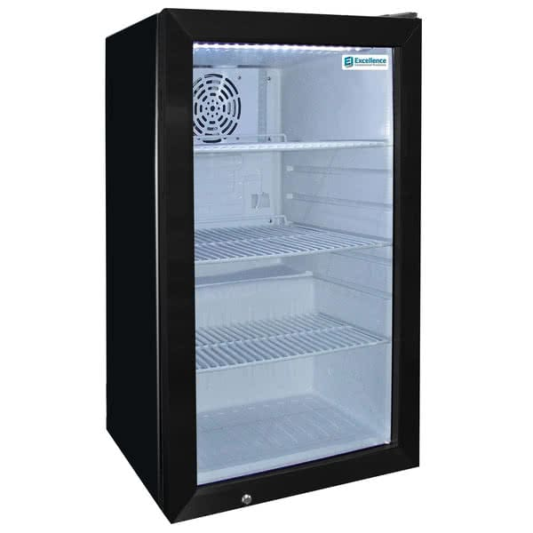 "Excellence Industries EMM-2S 17.25"" Countertop Refrigerator w/ Front Access - Swing Door, Black, 115v"