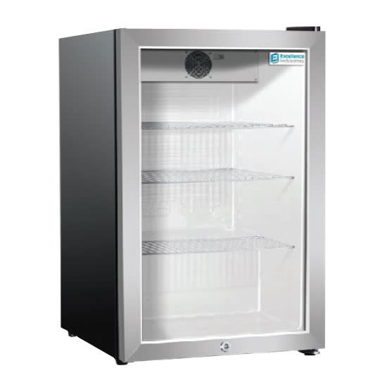 "Excellence Industries EMM-3HC 17"" Countertop Refrigerator w/ Front Access - Swing Door, Black, 115v"