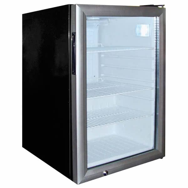 "Excellence Industries EMM-3SD 17.13"" Countertop Refrigerator w/ Front Access - Swing Door, Black, 115v"