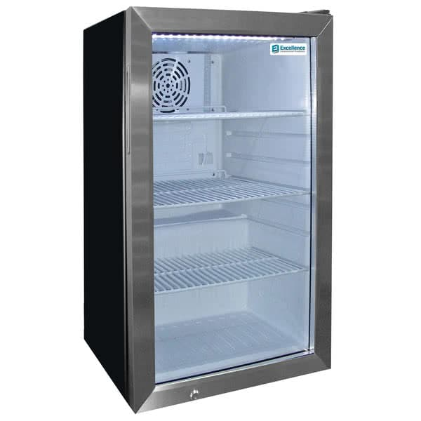 "Excellence Industries EMM-4SD 19"" Countertop Refrigerator w/ Front Access - Swing Door, Black, 115v"