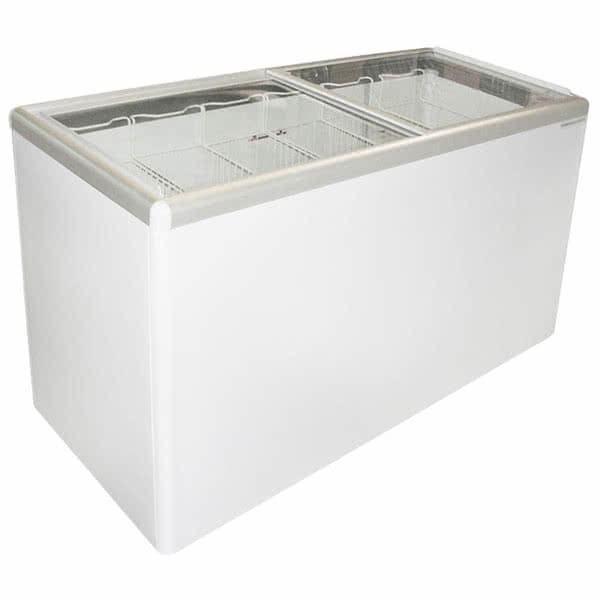"Excellence Industries EURO-10HC 39.5"" Mobile Ice Cream Freezer w/ 10 Tub Capacity - White, 115v"