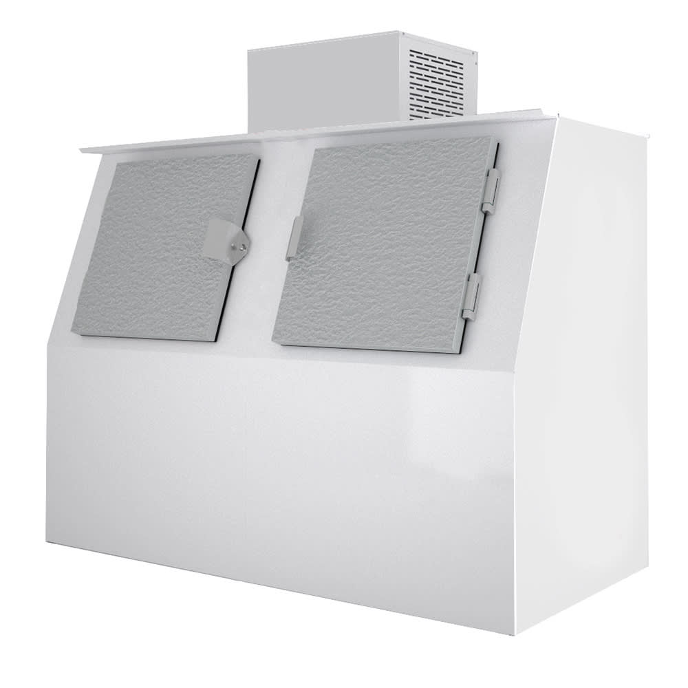 Excellence Industries GELO-S60 AD 55.2 cu ft Gelo Slanted Ice Merchandiser w/ (120) Bag Capacity, Auto Defrost, 115v