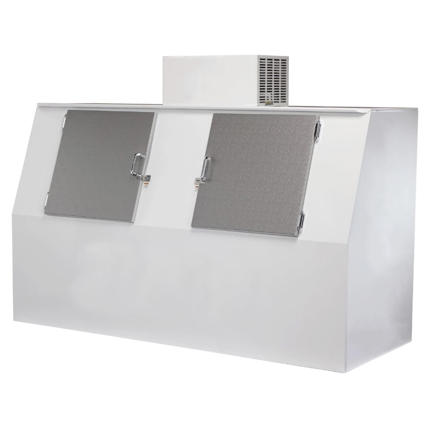 Excellence Industries GELO-S75 AD 72.3 cu ft Gelo Slanted Ice Merchandiser w/ (185) Bag Capacity, Auto Defrost, 115v