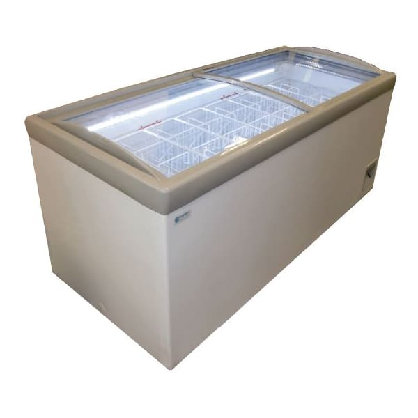 """Excellence Industries HM-23HC 73.75"""" Mobile Ice Cream Freezer w/ 8 Basket Capacity - White, 115v"""