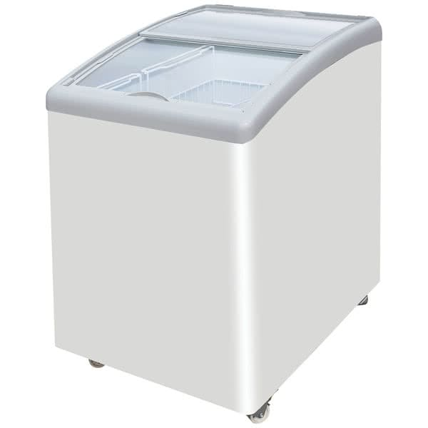 "Excellence Industries MB-2HCD 23"" Dual-Temp Display Merchandiser w/ 2 Basket Capacity - White, 115v"