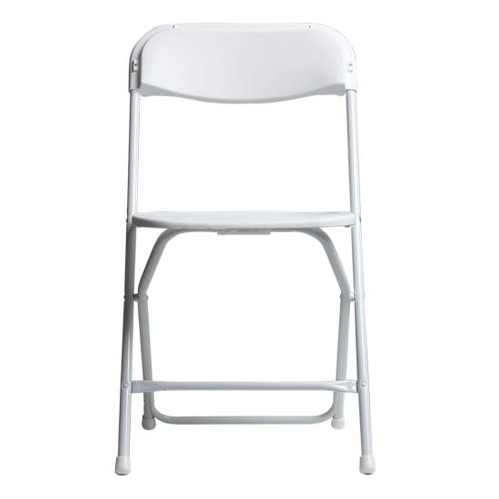 White Plastic Folding Chairs.Ps Furniture C600 Folding Chair W Plastic Back Seat Steel Frame Wedding White
