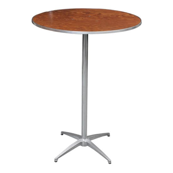 """PS Furniture HO30DI-SK42 30"""" Round Bar-Height Cocktail Table w/ Walnut Plywood Top"""