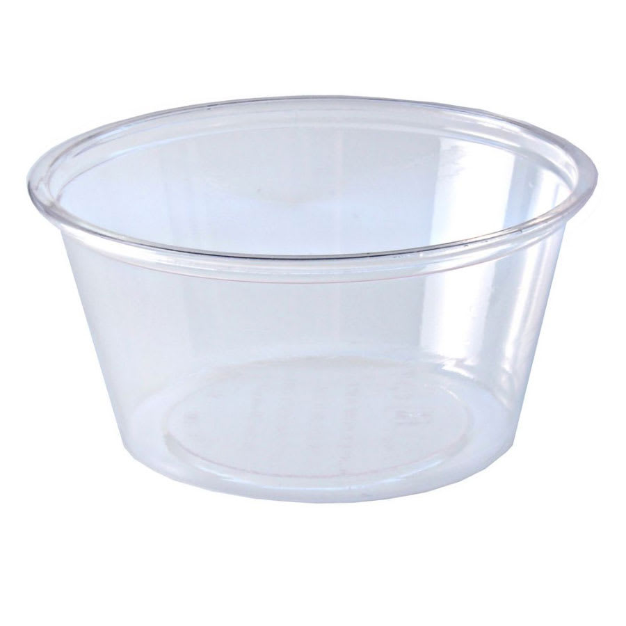 Fabri-Kal GPC400 4 oz Greenware® Portion Cup - Plastic, Clear