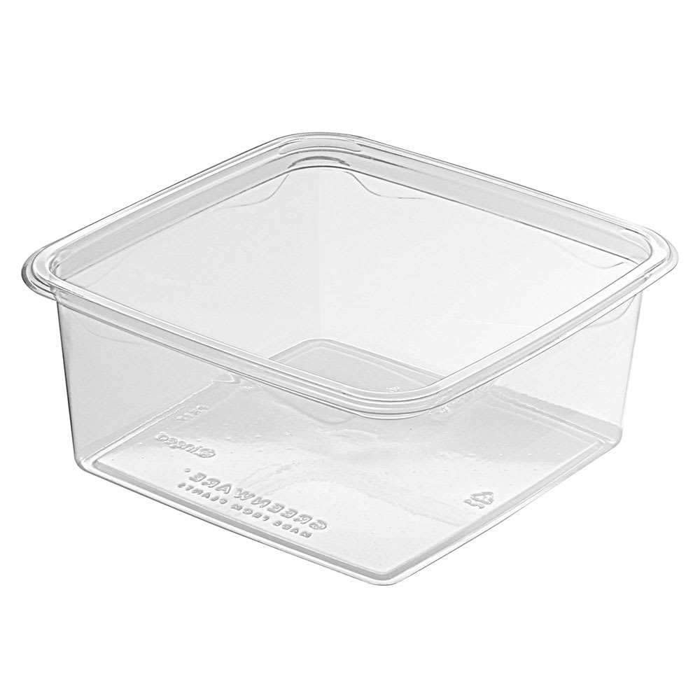 Fabri-Kal GS6-1 32-oz Greenware® On-The-Go Box - Plastic, Clear