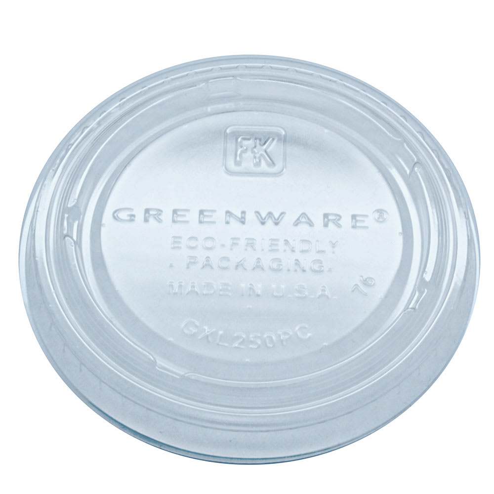 Fabri-Kal GXL250PC Lid for GPC200 Greenware® Portion Cup - Plastic, Clear