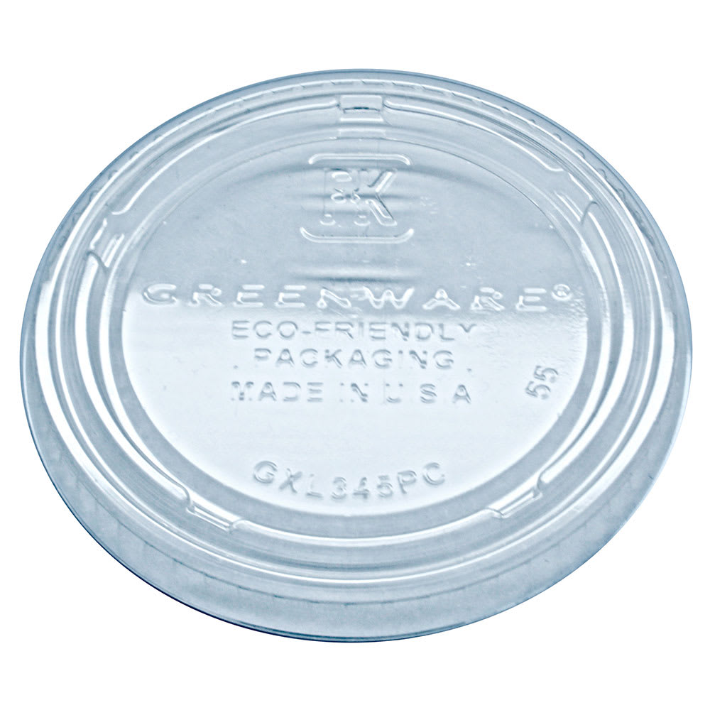 Fabri-Kal GXL345PC Lid for GPC325 & GPC400 Greenware® Portion Cup - Plastic, Clear