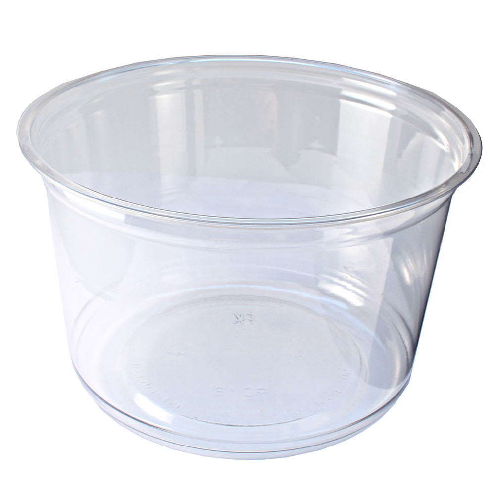 Fabri-Kal RD16 16 oz Alur™ Round Container - Plastic, Clear