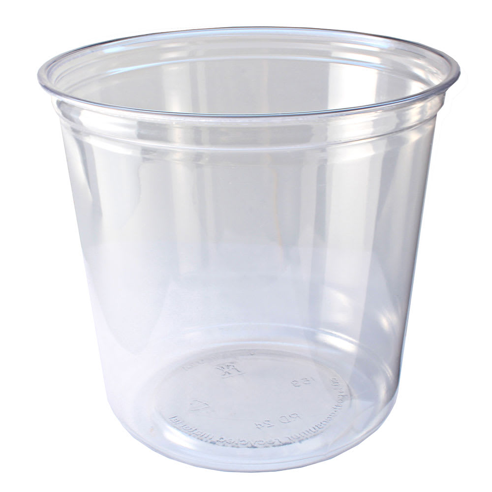 Fabri-Kal RD24 24-oz Alur™ Round Container - Plastic, Clear