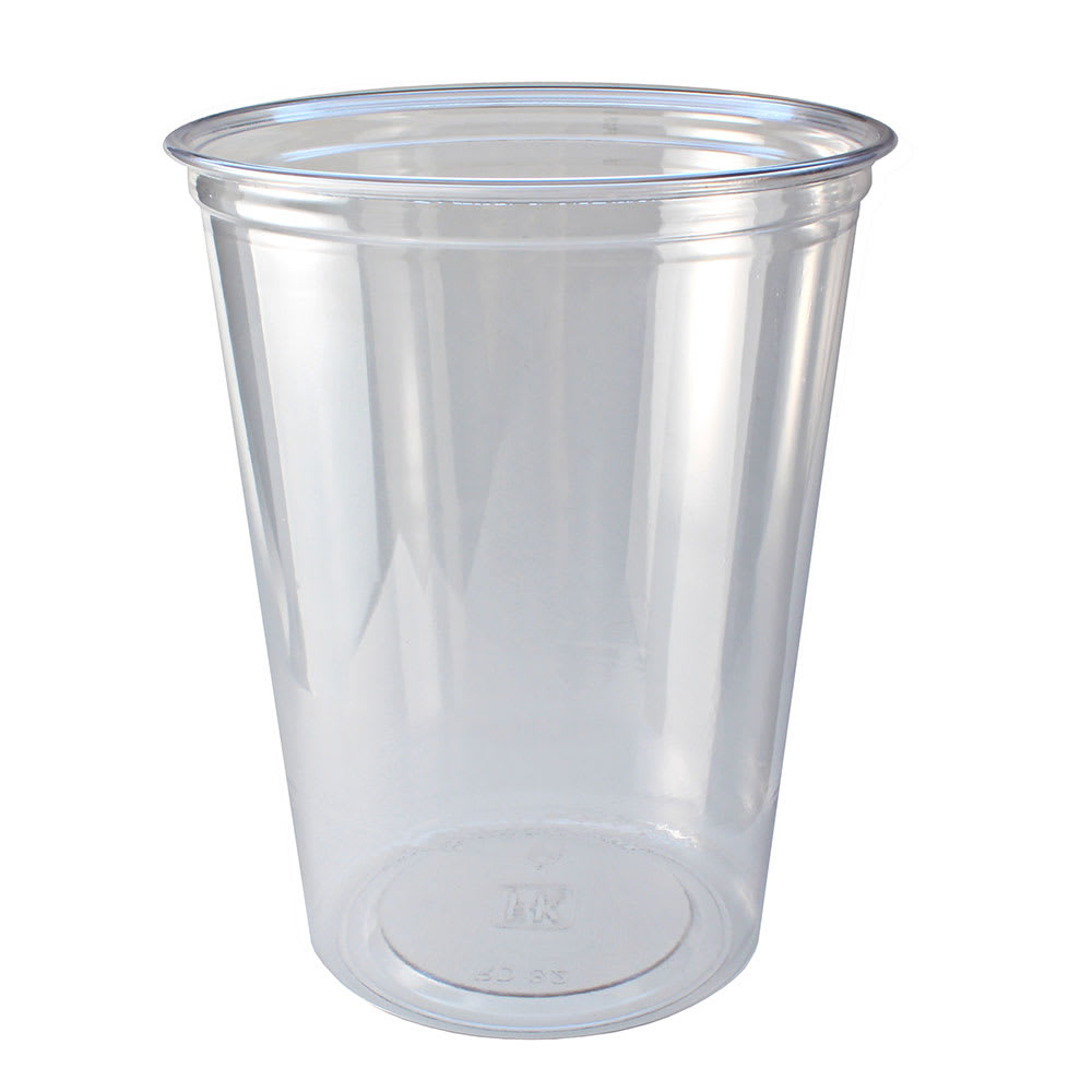 Fabri-Kal RD32 32 oz Alur™ Round Container - Plastic, Clear
