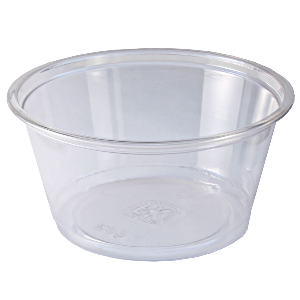 Fabri-Kal RD5 5-oz Alur™ Round Container - Plastic, Clear