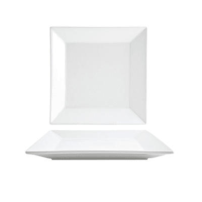 """Front of the House DAP011WHP13 8.5"""" Square Kyoto™ Plate - Porcelain, White"""