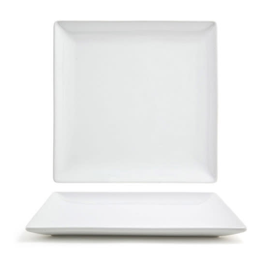 "Front of the House DAP017WHP23 8"" Square Mod® Plate - Porcelain, White"