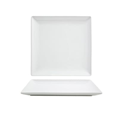 "Front of the House DAP018WHP23 6.5"" Square Mod® Plate - Porcelain, White"