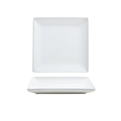 """Front of the House DAP026WHP23 5"""" Square Mod® Plate - Porcelain, White"""