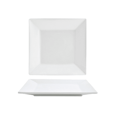 "Front of the House DAP046WHP23 6.5"" Square Mod® Plate - Porcelain, White"