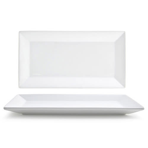 """Front of the House DAP055WHP23 Rectangular Kyoto™ Plate - 11"""" x 6"""", Porcelain, White"""