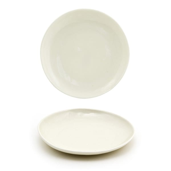 "Front of the House DAP076BEP23 6"" Round Kiln® Plate - Porcelain, Vanilla Bean"