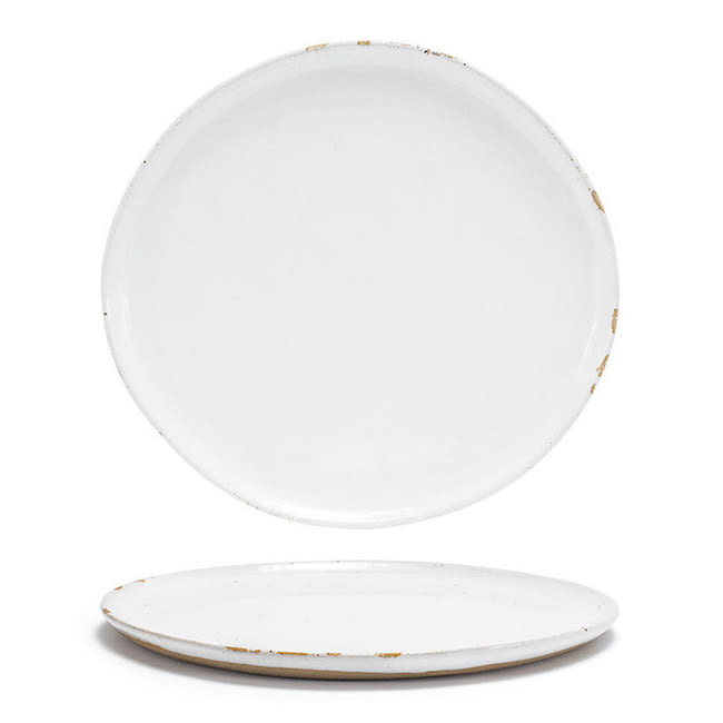 """Front of the House DDP068WHP21 11"""" Round Artefact™ Plate - Porcelain, Superwhite"""