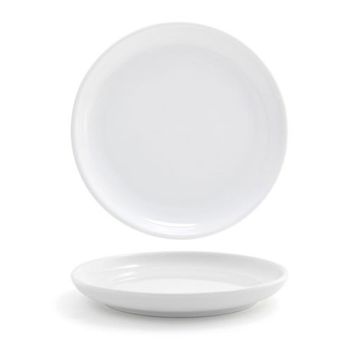 "Front of the House DSP018WHP23 7.5"" Round Harmony™ Plate - Porcelain, White"
