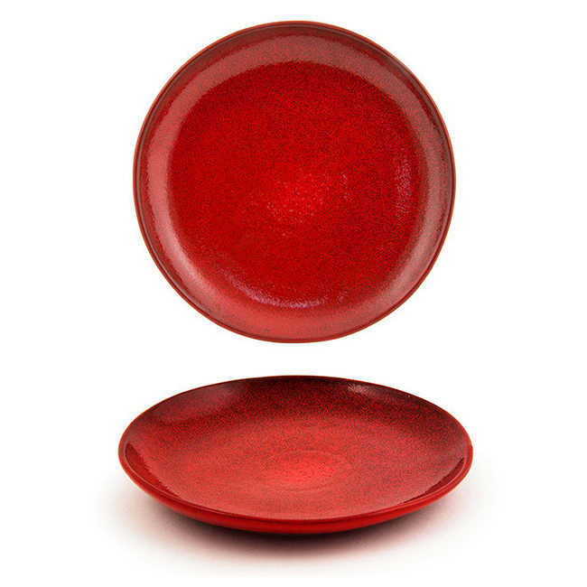 """Front of the House DSP031RDP23 8"""" Round Kiln® Plate - Porcelain, Chili"""