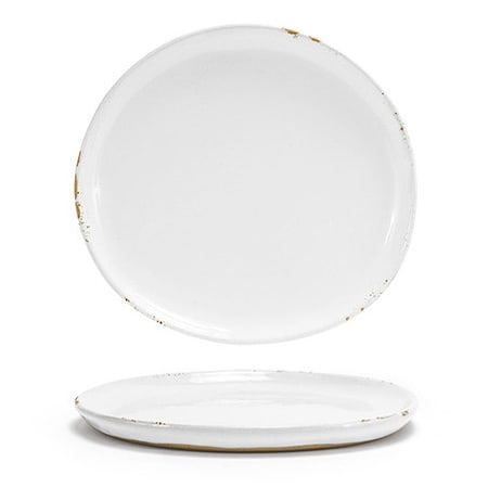 """Front of the House DSP036WHP23 7.5"""" Round Artefact™ Plate - Porcelain, Superwhite"""