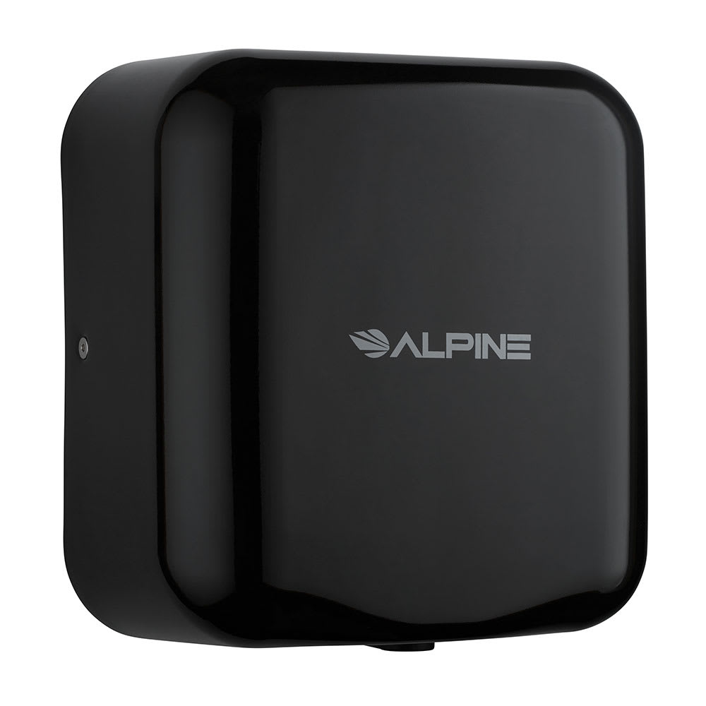 Alpine Industries 400-10-BLA Automatic Hand Dryer w/ 10 Sec Dry Time - Black, 110 120v