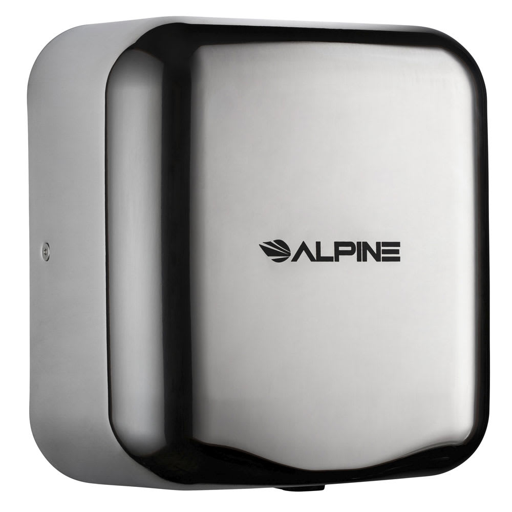 Alpine Industries 400-10-CHR Automatic Hand Dryer w/ 10-Sec Dry Time - Chrome, 110-120v