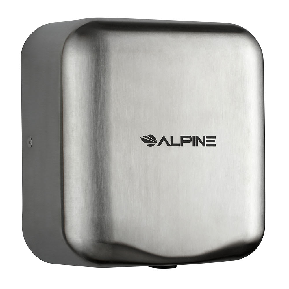 Alpine Industries 400-10-SSB Automatic Hand Dryer w/ 10 Sec Dry Time - Stainless, 110 120v