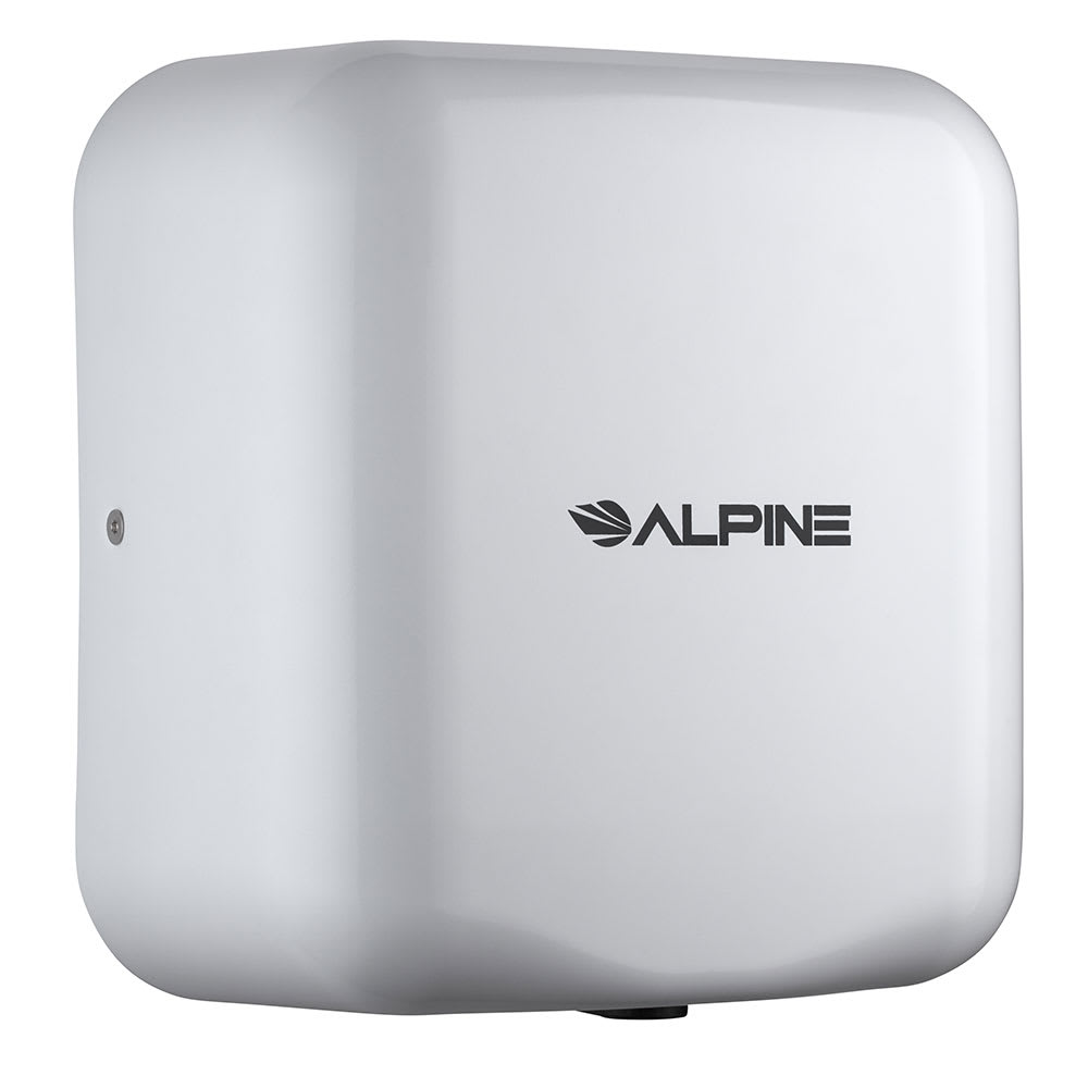 Alpine Industries 400-10-WHI Automatic Hand Dryer w/ 10-Sec Dry Time - White, 110-120v