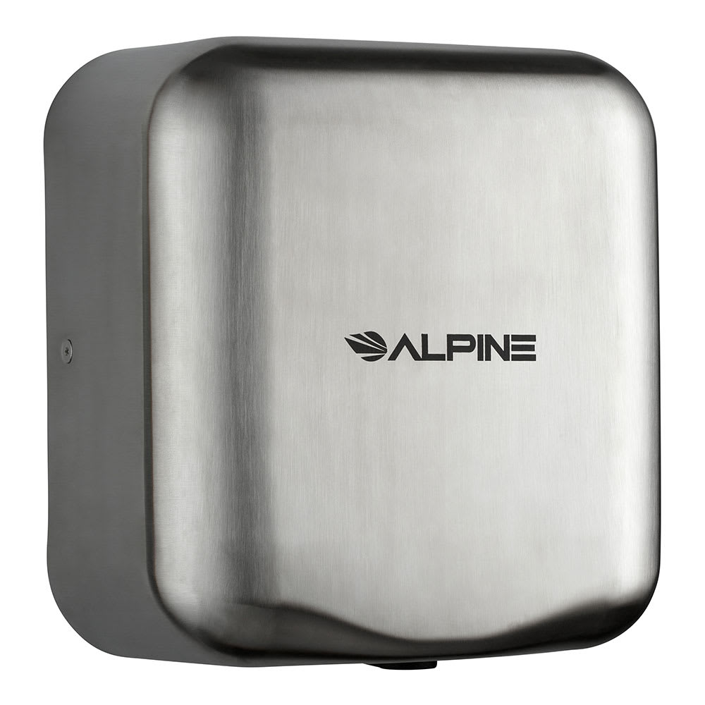 Alpine Industries 400-20-SSB Automatic Hand Dryer w/ 10-Sec Dry Time - Stainless, 220-240v/1ph