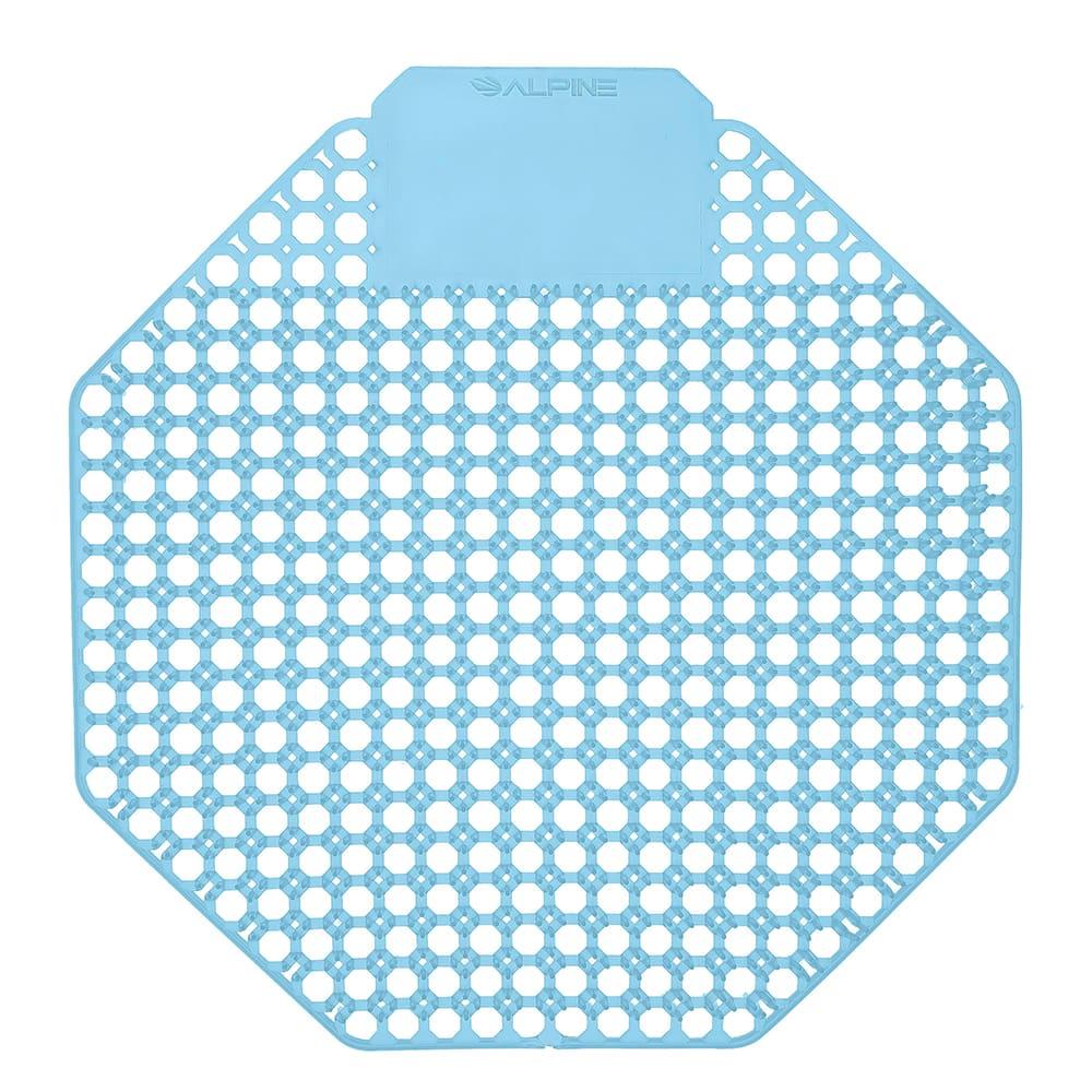"""Alpine Industries 4111-CB Dual Sided Urinal Screen - 7-4/5"""" x 7-7/8"""", Plastic, Light Blue"""