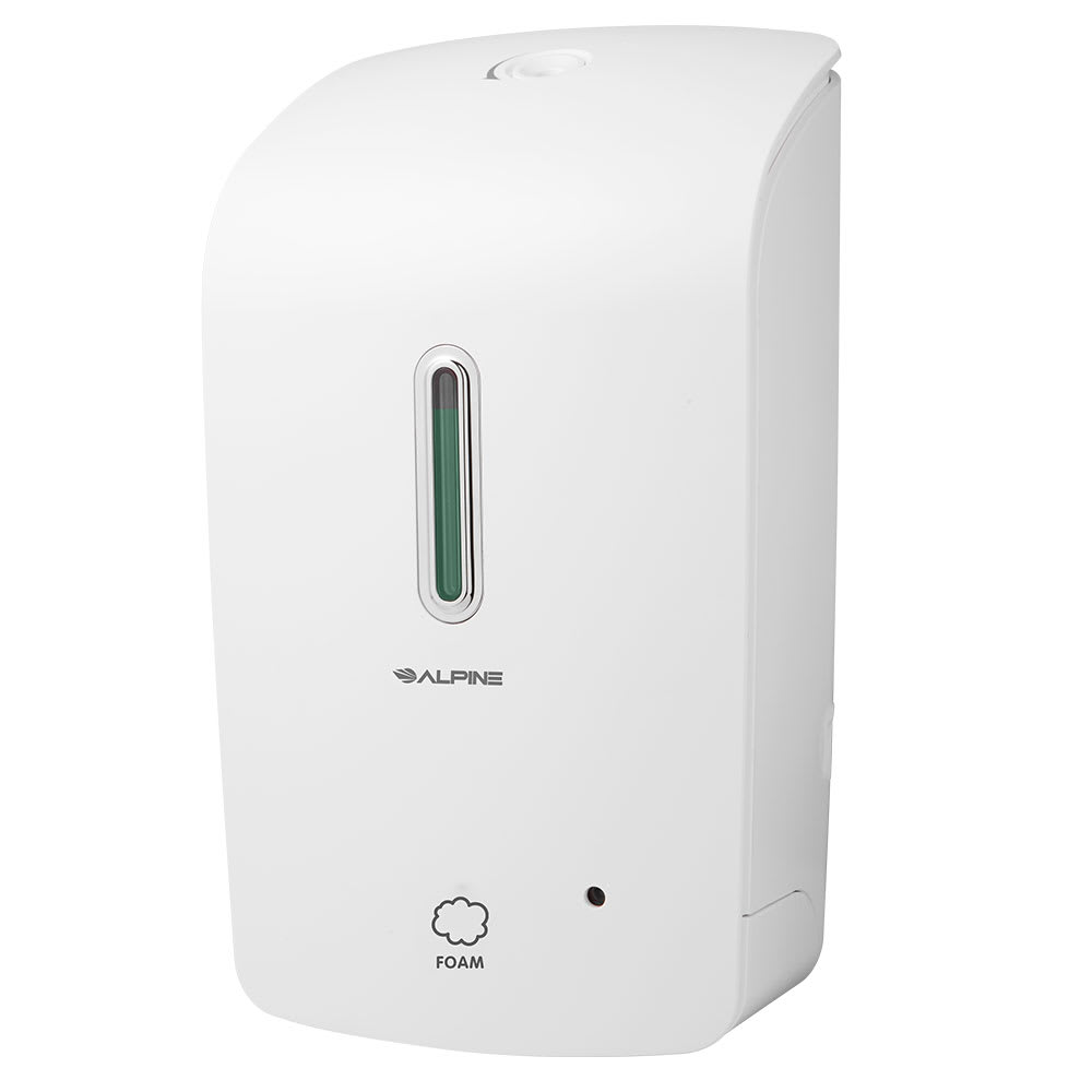 Alpine Industries 422-WHI 33-oz Wall-Mount Foam Soap Dispenser - Automatic, White