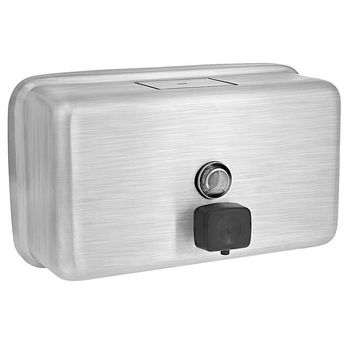 Alpine Industries 424-SSB 40 oz Wall-Mount Liquid Soap Dispenser - Manual, Stainless