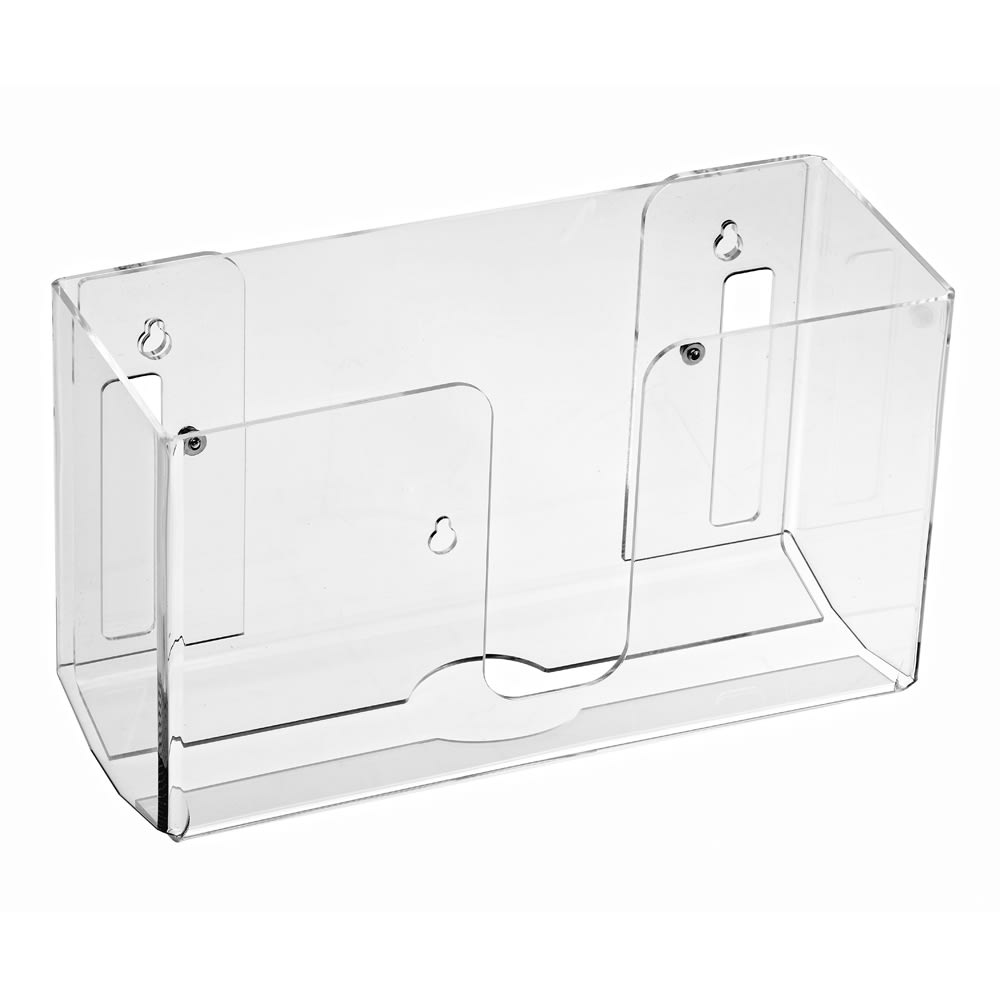 Alpine Industries 432 Wall-Mount Folded Paper Towel Dispenser w/ (150) Towel Capacity - Acrylic, Clear