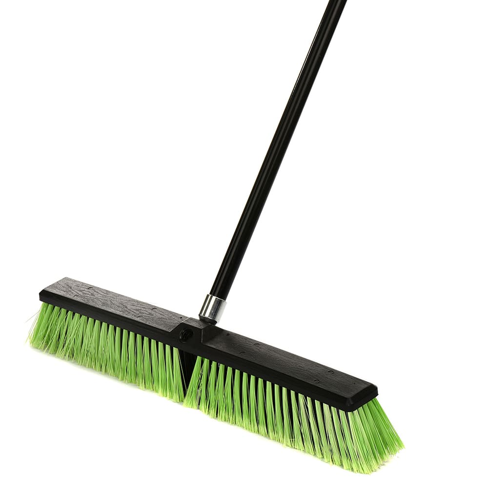 """24/"""" Multi-Surface Push Broom with Two Color Handle"""
