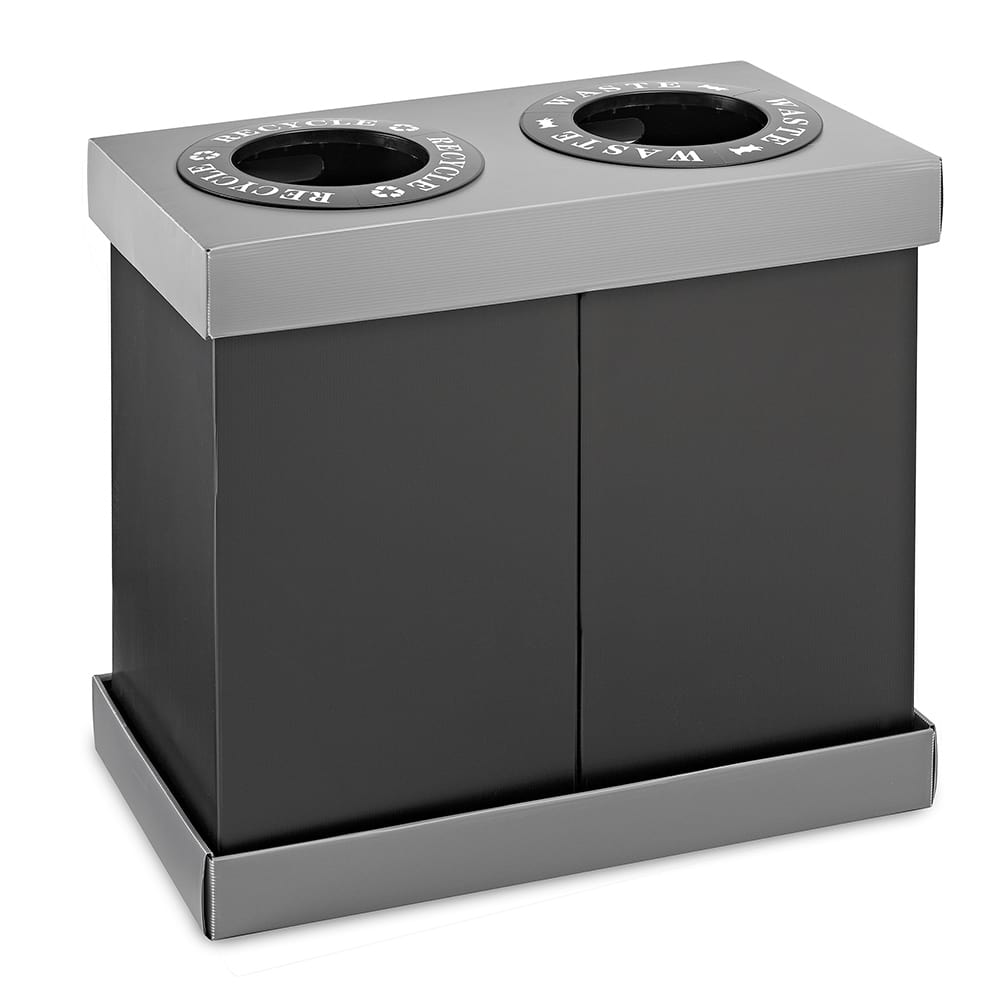 Alpine Industries 471-02 28 gal Multiple Material Recycle Bin - Indoor, Multiple Sections