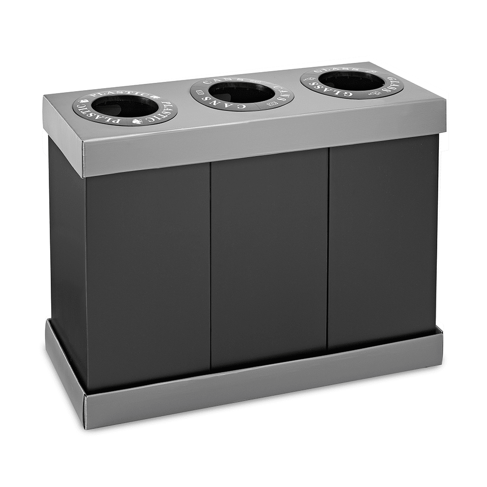 Alpine Industries 471-03 28 gal Multiple Material Recycle Bin - Indoor, Multiple Sections