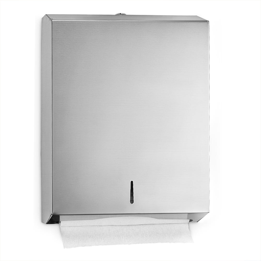 "Alpine Industries 480 Wall-Mount Manual Paper Towel Dispenser - 11.2"" x 14.5"", Stainless"