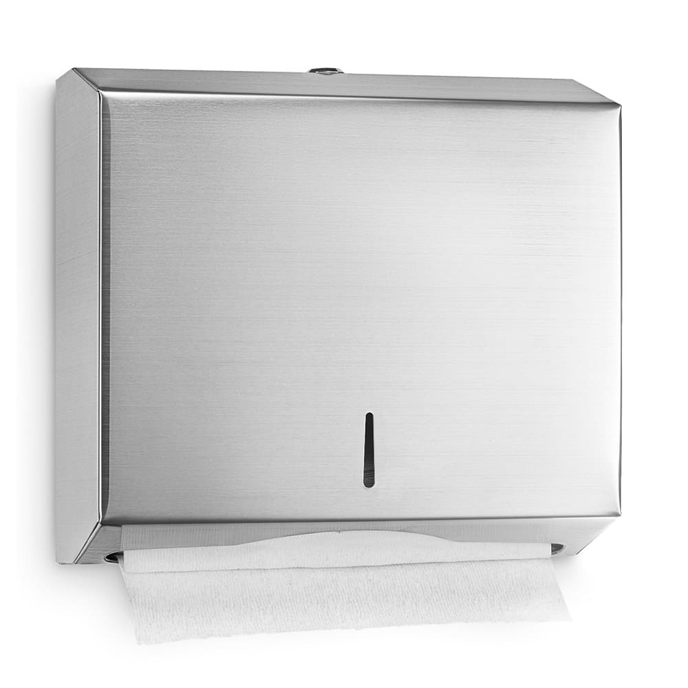 "Alpine Industries 481 Wall-Mount Manual Paper Towel Dispenser - 11.2"" x 14.5"", Stainless"