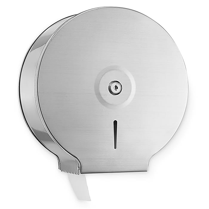 Alpine Industries 482 Wall-Mount Toilet Paper Dispenser w/ Single Jumbo Roll Capacity, Stainless