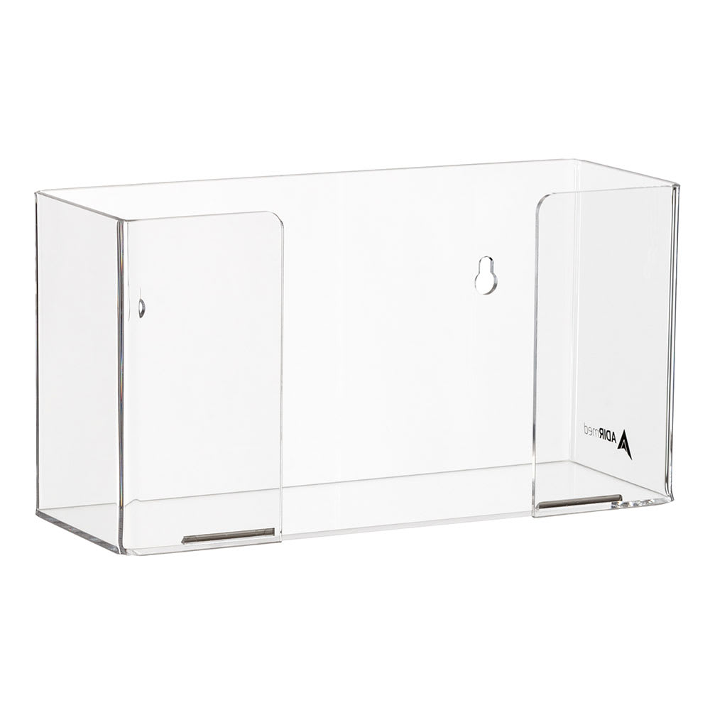 Alpine Industries 902-01 Wall-Mount Glove Dispenser w/ (1) Box Capacity - Acrylic, Clear