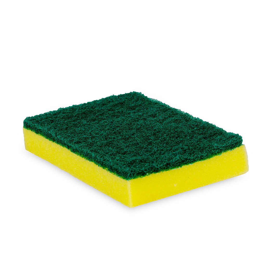 "Clean Up 89992943 Scrub Sponge - 4"" x 6"", Green/Yellow"