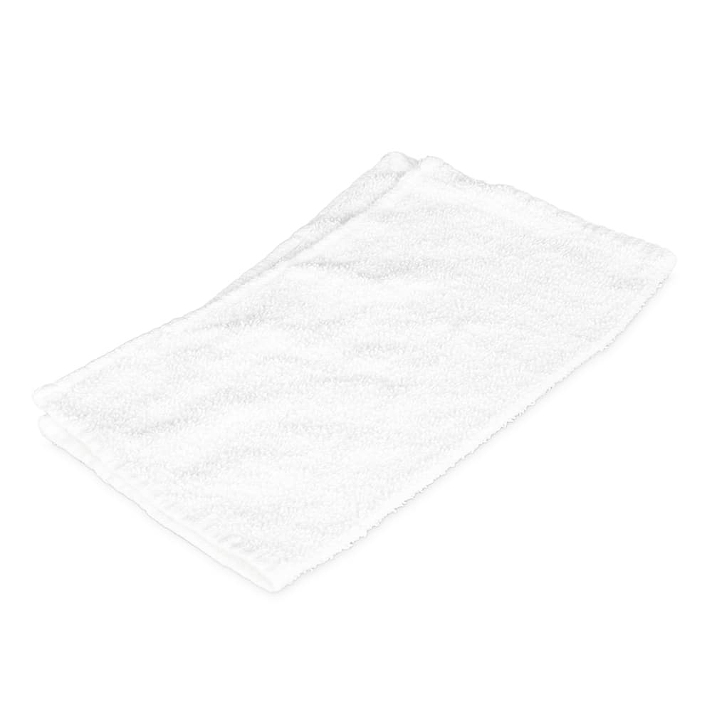 "Clean Up CBT24WH White Cotton Bar Towel, 16"" x 19"""