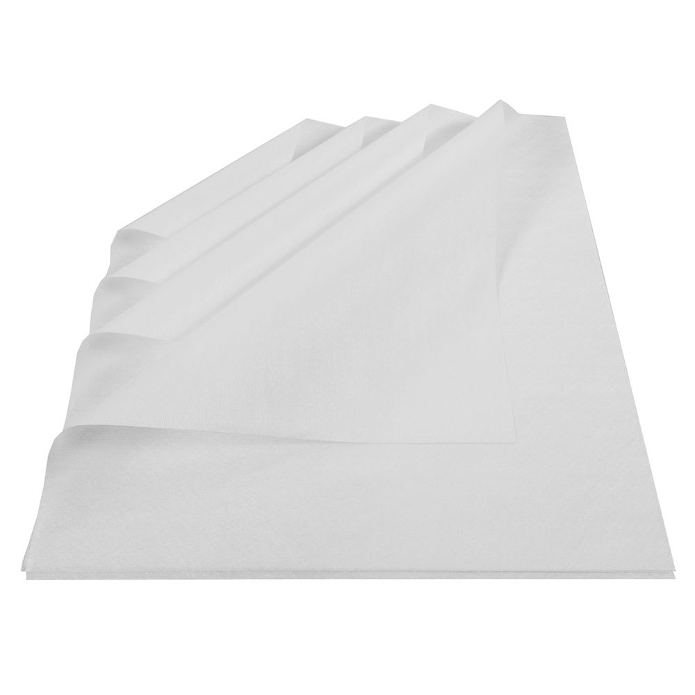 "Clean Up by KaTom DTMF16WH 16"" Square Disposable Towel - Microfiber, White"