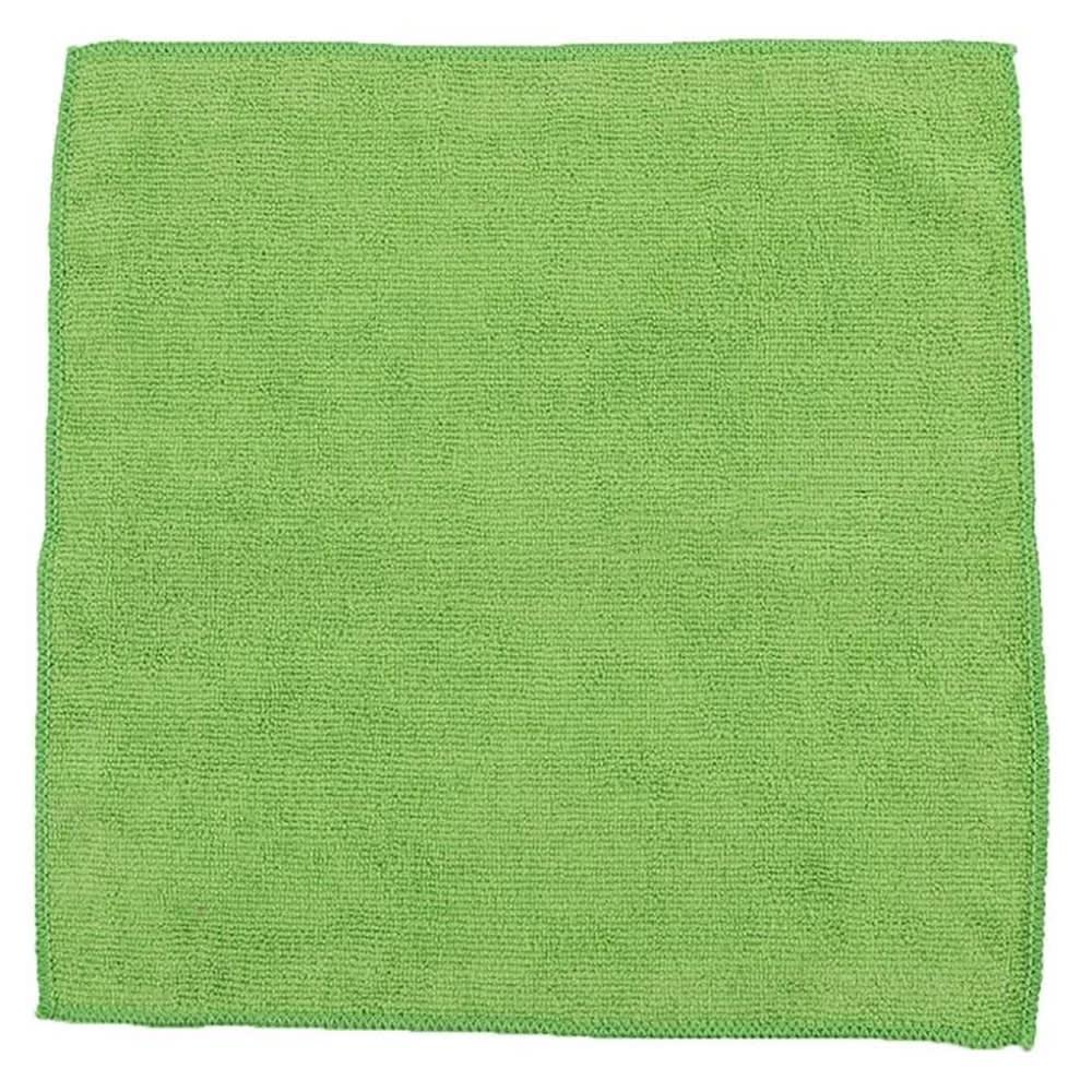 "Clean Up MFMP12GN 12"" Square Multi-Purpose Towel - Microfiber, Green"